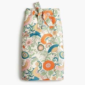 NWT J Crew tie waist skirt ornate floral